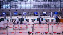 Deutschland Warnstreik am Hamburger Flughafen