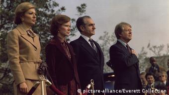 Begrüßungszeremonie des iranischen Schahs und des iranischen Shahbanou mit Präsident und Rosalynn Carter