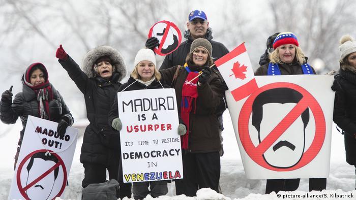 Opositores a Maduro se congregaron en Ottawa.