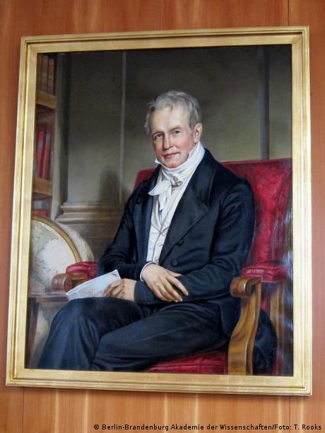 Alexander von Humboldt by Friedrich Decker. It is a copy of an original by Joseph Stieler from 1843. Berlin-Brandenburg Academy of Sciences.