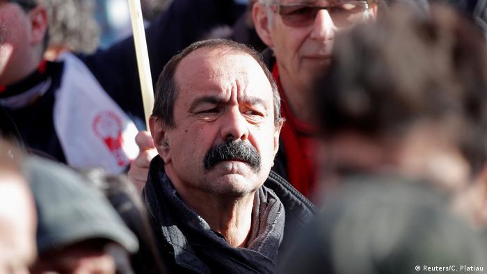 Frankreich Streik | Protest & Demonstration in Paris | Philippe Martinez, Gewerkschafter CGT