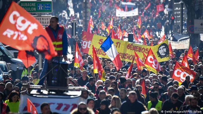 Frankreich Streik | Protest & Demonstration in Marseille