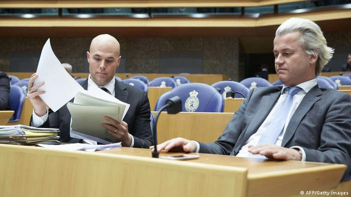 Van Klaveren with Geert Wilders (AFP/Getty Images)