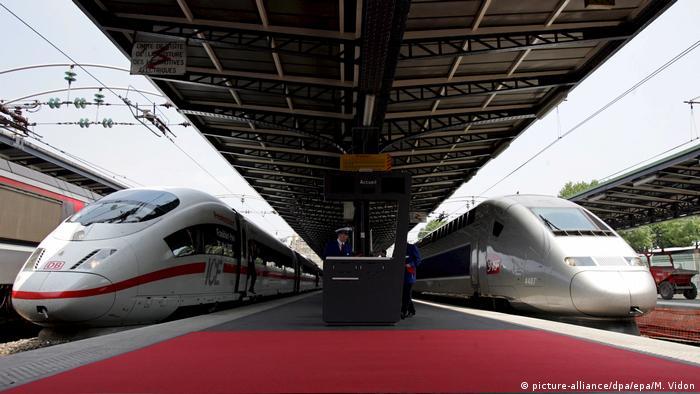 Französischer TGV und deutscher ICE