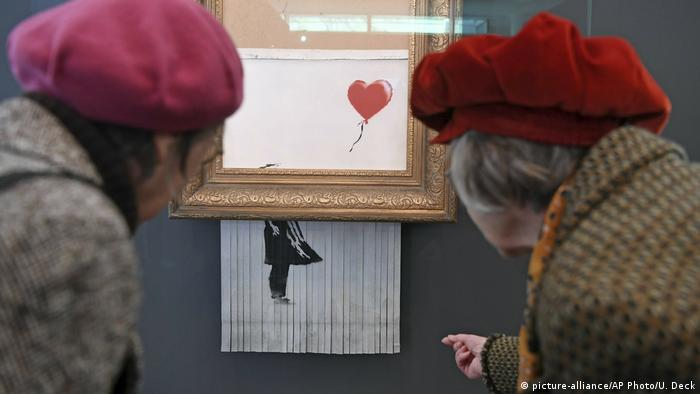 Deutschland Geschreddertes Banksy-Bild im Museum Frieder Burda (picture-alliance/AP Photo/U. Deck)