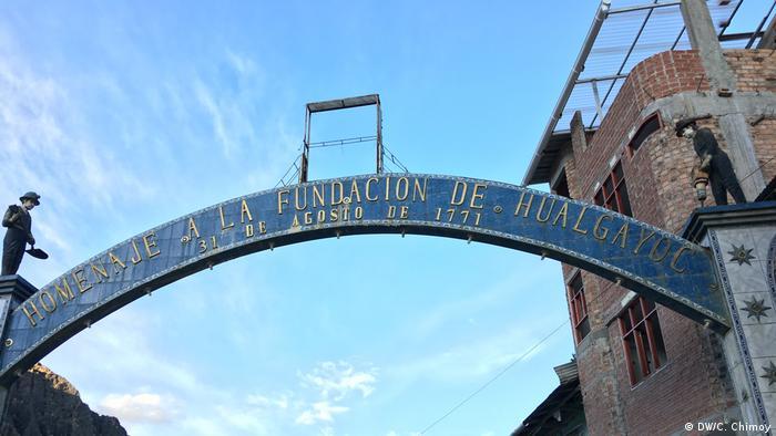 Peru Bogen des Eingangs der Stadt (DW/C. Chimoy)