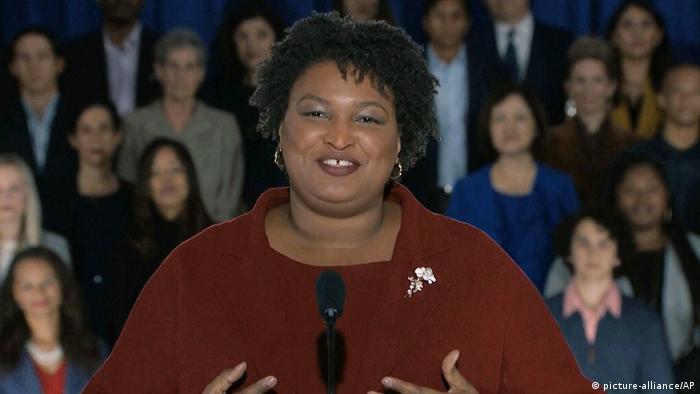 Die 45-Jährige Stacey Abrams gilt als eine der Hoffnungsträgerinnen der US-Demokraten (Foto: picture-alliance/AP)