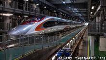 China Eisenbahn neue Züge Vibrant Express in Hong Kong