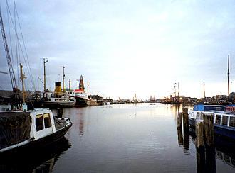 Navios no porto de Bremerhaven