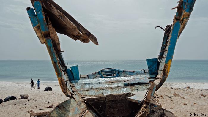 Shipwreck on the coast of Senegal