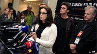 US actress Debra Winger, the film festival's jury president of the Zurich Film Festival, speaks to the media in Zurich, Switzerland,