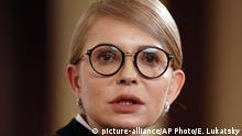 Ukraine Präsidentschaftskandidatin Yulia Tymoshenko