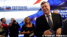 Russland Pressekonferenz Viktor Janukowitsch, ehemaliger Präsident der Ukraine