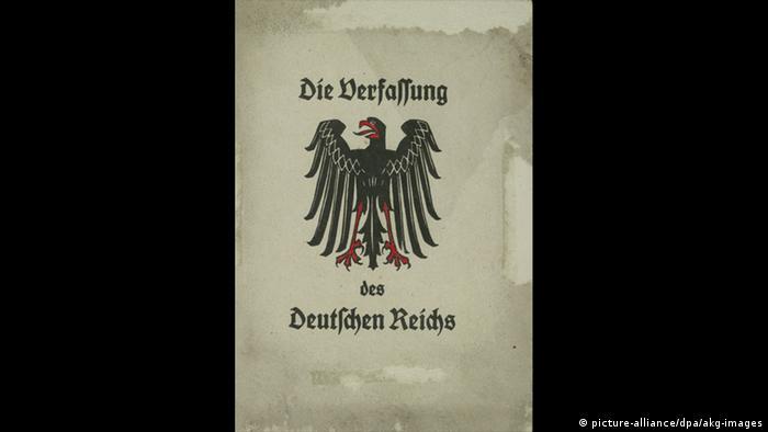 Die Weimarer Verfassung   1919