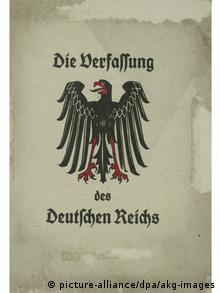 Первая публикация Веймарской конституции. 1919 год