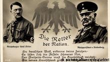 Reichskanzler Adolf Hitler, Reichspräsident Paul von Hindenburg, Retter der Nation   Verwendung weltweit