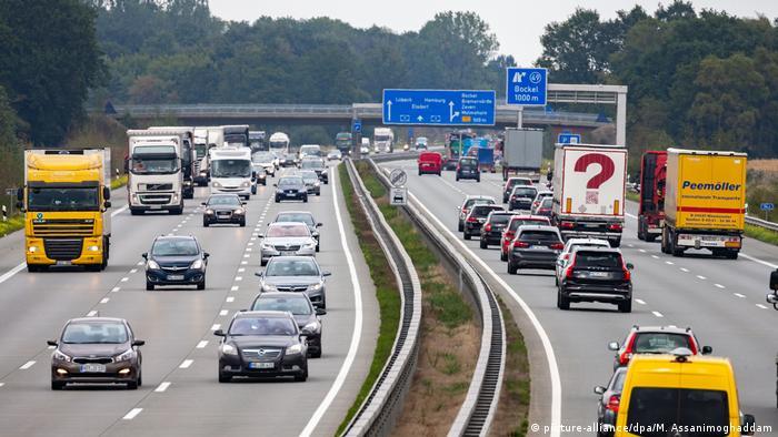 Autobahn, Germany, between Bremen and Hamburg