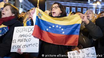 Spanien Pro-Guaido-Demo in Madrid