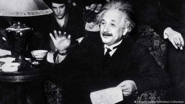Theoretical physicist Albert Einstein pictured in about 1935