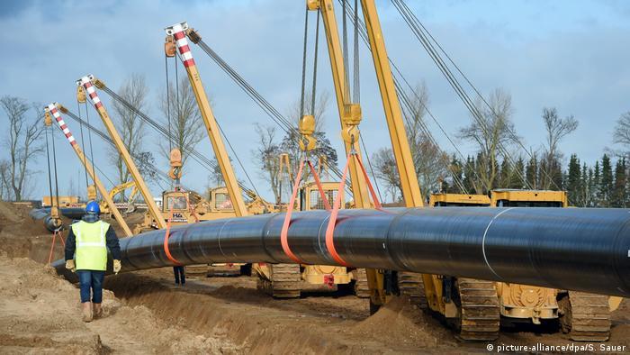 Прокладка газопровода Северный поток - 2