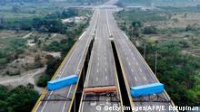 Venezuela Grenzübergang zu Kolumbien Tienditas Brücke bei Cucuta