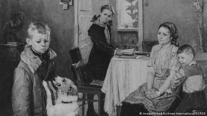 Картината на Фьодор Решетников Опять двойка