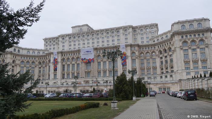 Bukarest Parlamentsgebäude (DW/B. Riegert)