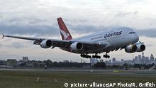Airbus 380 der Fluggesellschaft Quantas