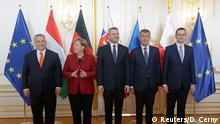 Bratislava Treffen der Visegrad Gruppe mit Merkel