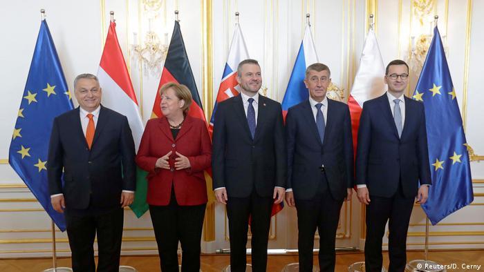 Angela Merkel and Visegrad leaders