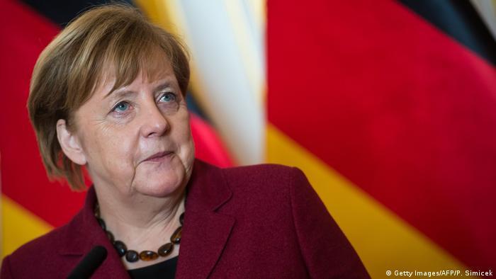 Анґела Меркель під час візиту до Братислави