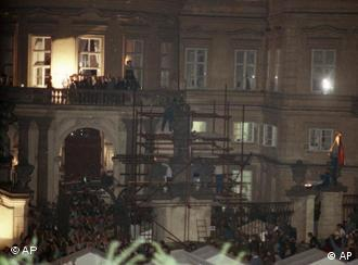 The West German embassy in Prague on Sept. 30, 1989
