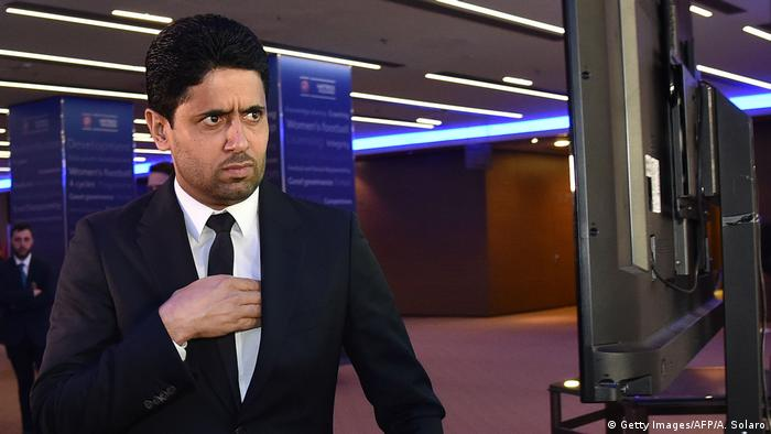 Nasser Al-Khelaifi at a UEFA Congress