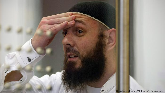 In this file photo taken on August 11, 2009, defendant Adem Yilmaz reacts in a courtroom in Dusseldorf, western Germany.