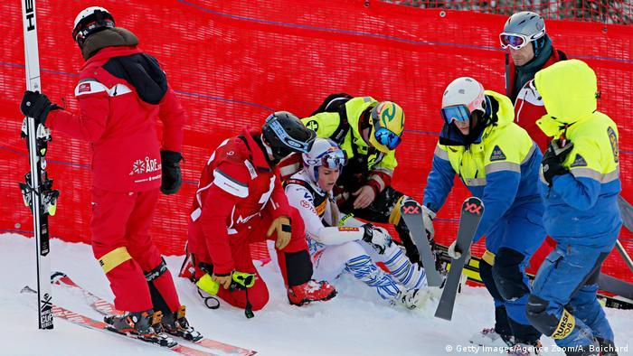 FIS Alpine Skiweltmeisterschaft Super G 2019 Sturz Lindsey Vonn (Getty Images/Agence Zoom/A. Boichard)