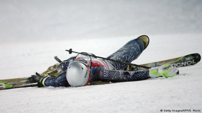 Olympische Spiele Turin 2006 Lindsey Kildow Slalom Sturz (Getty Images/AFP/O. Morin)
