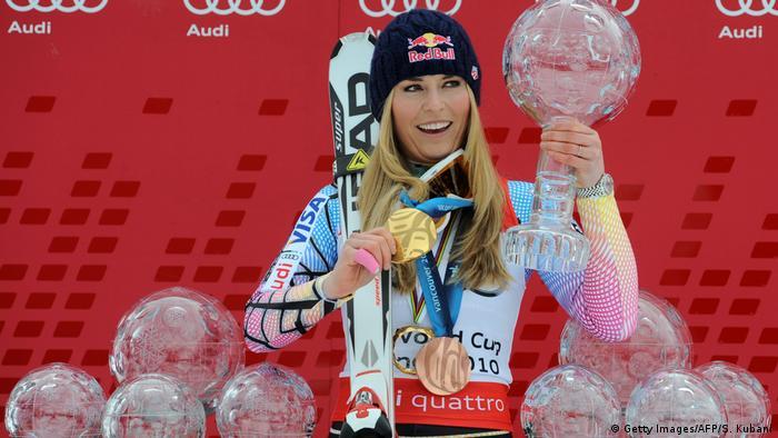 Garmisch Partenkirchen Lindsey Vonn Welt Cup Siegerin 2010 (Getty Images/AFP/S. Kubani)
