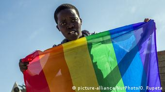 Namibia Gay Pride Parade 2016 (picture-alliance/NurPhoto/O. Rupeta)