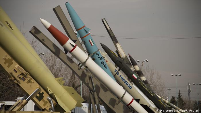 نمونههایی از موشکهای ایران در نمایشگاهی به مناسبت چهلمین سالگرد انقلاب سال ۵۷