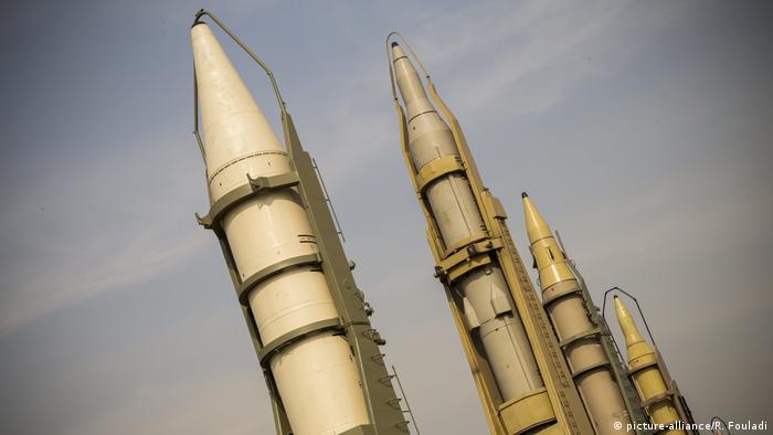 Іранські ракети на виставці збройної техніки у Тегерані у 2019 році