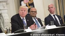USA, Washington: Donald Trump und Jeff Bezos
