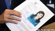 Thailand, Bangkok: Bewerbung Ubolratana Rajakanya Sirivadhana Barnavadi