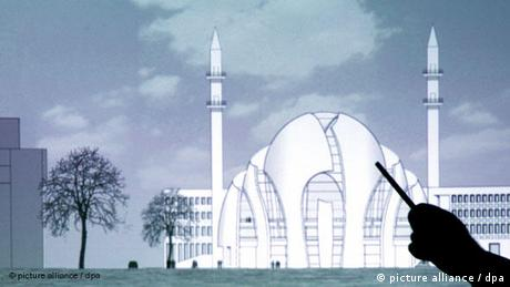 Modell of the Mosque in a presentation