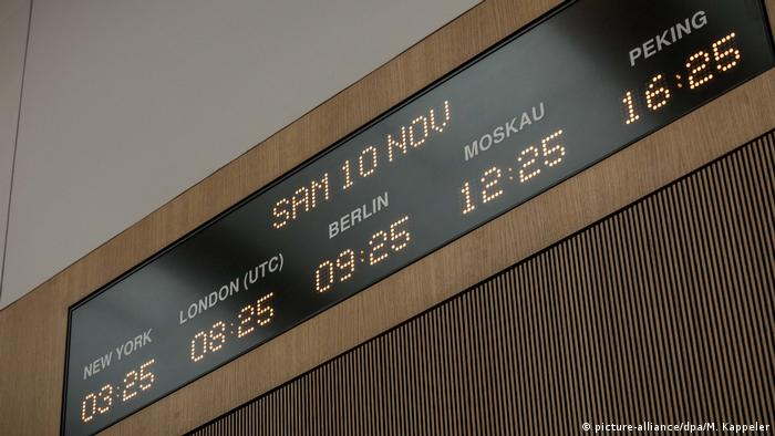 World clock in the situation room