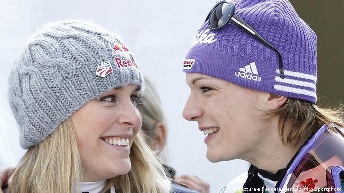 Vonn mit Maria Riesch (picture-alliance/augenklick/firo Sportphoto)