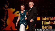 Presenter Anke Engelke and Festival director Dieter Kosslick attend for the opening ceremony of the 69th Berlin Film Festival in Berlin, Germany, February 7, 2019. REUTERS/Hannibal Hanschke