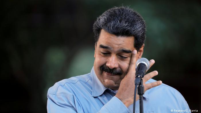 Venezuela Nicolas Maduro bei einer Demo in Caracas (Reuters/C. Barria )