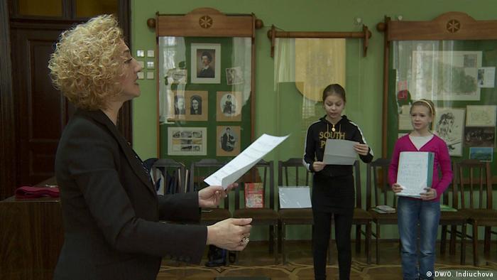 Unterricht im ungarischen Kulturzentrum in Uzhgorod