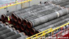 Трубы для газопровода Северный поток - 2 в германской земле Мекленбург - Передняя Померания