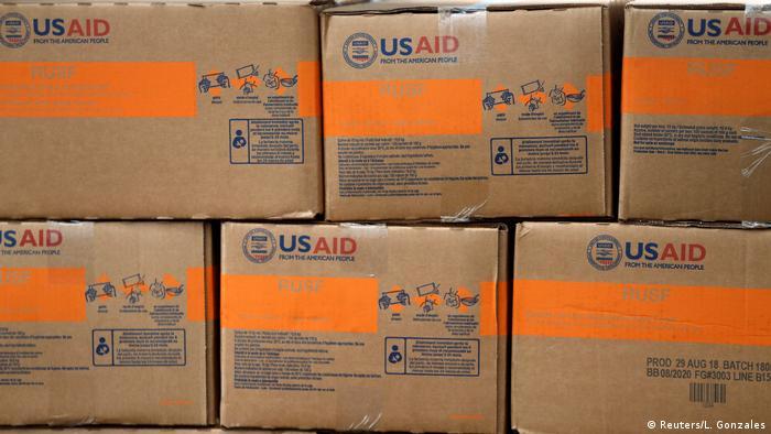 Kolumbien Cucuta Hilfsgüter am Grenzübergang Tienditas zu Venezuela